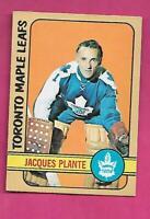 1972-73 OPC # 92 LEAFS JACQUES PLANTE GOALIE EX-MT CARD (INV# J0427)