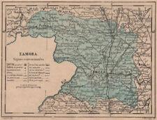 Zamora. Castilla y León. mapa antiguo de la provincia 1908 Antiguo Viejo