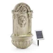 Fuente de Agua Pared Piedra Funcionamiento Ecologico Pantalla Solar Iluminada
