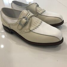 Footjoy Classics made in USA Women's 9 White Beige Leather Golf Shoes 90369
