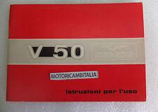 MOTO GUZZI V50 MANUALE ISTRUZIONI USO MANUTENZIONE MOTORCYCLE OWENER'S MANUAL