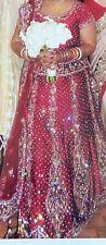 Pakistani Indian Red Wedding Dress Bridal Lehenga