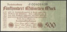 Ro.124b 500 miliardi di Mark 1923 H (2) ricco pressione 8 cifre