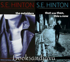 The Outsiders & That Was Then This Is Now (paperback) by S. E. Hinton 2Bks NEW