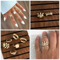 Boho Stack Above Knuckle Rings Band Midi Finger Ring Women Jewelry 2Styles
