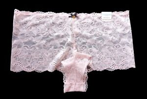 Cacique Lane Bryant Black Gray Lace Cheeky Short Panties 14/16