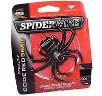 Spiderwire Stealth CODE RED 10LB Braided Fishing Line 150m Spool Braid 0.20mm