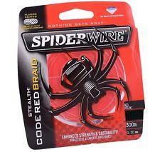 Spiderwire Stealth CODE RED 20 LB Braided Fishing Line 300 m Spool Braid 0.25 mm