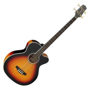 Takamine GB72CE-BSB Electro Acoustic Bass Guitar, Sunburst