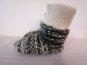 CLARKS KNIT NINI WOMENS GREY FABRIC WARM LINED HOUSE SHOES SLIPPERS UK SIZE 3