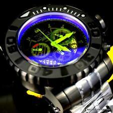 Invicta Sea Hunter Gen II Radar Yellow Tinted Crystal 58mm Black Steel Watch New