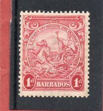 Barbados GV1 1939 1d scarlet, sg 249 LH.Mint
