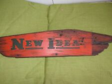 "Vintage ""New Idea"" Wood Sign~Farm Equipment Advertising~Collectible"