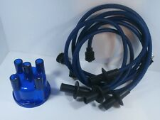 VW Spark Plug Wires & Distributor Cap Set BLUE 1200-1600cc. Ignition Wires