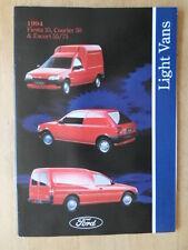 FORD LIGHT VANS orig 1994 UK Mkt Brochure - Fiesta 35 Courier 50 Escort 55 75