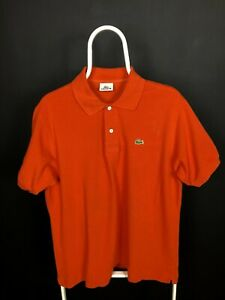 Lacoste Polo Shirt Red 100% Cotton Size 5