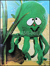 Vintage Knitting Pattern • Cute Cuddly Octopus • Oceanic Sealife Soft Toy • DK