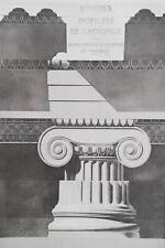 GREECE Acropolis of Athens Propylaea Ionic Capital - 1905 Heliogravure Print