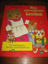 (E550) ALTES KINDERBUCH MEIN ALLERSCHÖNSTES LEXIKON RICHARD SCARRY DELPHIN 1985