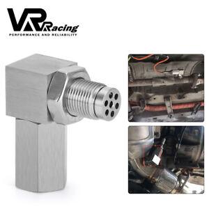 O2 Oxygen Sensor CEL Eliminator Angled Extender Spacer 90 Degree M18X1.5 Bung