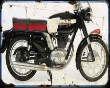 Gilera 200 Super A4 Metal Sign Motorbike Vintage Aged