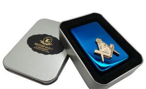 Freemason Lighter in case 24k Gold Symbol Masonic Luxury Masonic Cigarette BBQ