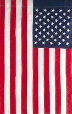 "USA American Flag 12"" x 18"" 12x18 Embroidered Garden Sleeve Hem Pole USA SHIPPER"