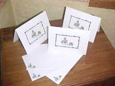 Cutting Horse With Steer 6 Note Cards & Envelopes G8 Gift for Cutter Horse Lover