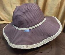 Wallaroo Hat Co Captiva Womens Wide Brim Adjustable Hat Brown Beige