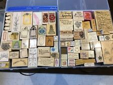 Arts crafts rubber stamp embossing assorted Huge Lot 75 + stamps, some Easter