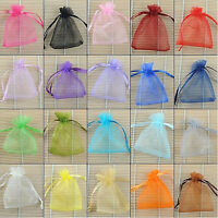EG_ 100x Strong Sheer Organza Wedding Jewelry Candy Gift Pouch Bags Marketable C