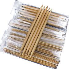 75Pcs 20cm Double Pointed Smooth Carbonized Bamboo Knitting #U Needles Crochet