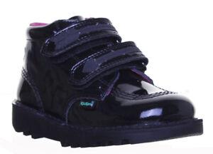 Kickers Kick Arro Pat Kids Leather Hi Valcro Back to School  Shoes