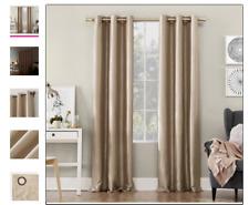 Sun Zero Bardot Dupioni Faux Silk 100% Blackout Grommet Curtain Panel