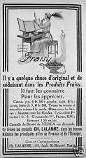 PUBLICITÉ CONSEILS DE BEAUTÉ NÉRÉA PRODUIT FRAISY CH LALANNE CRÈME POUDRE