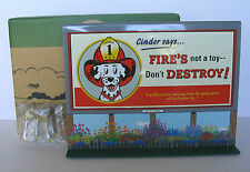 NIB HALLMARK KIDDIE CAR CLASSICS BILLBOARD # 3 CINDER FIRE DOG SAYS + LIGHTS