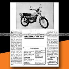 ★ SUZUKI TS 185 ★ 1974 Essai Moto / Original Road Test #a81