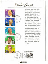 #2849-53 FD Souvenir 29c Popular SingersStamp