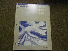 1997 HYUNDAI Parts Price List Manual MAY Sonata Elantra FACTORY OEM BOOK 97