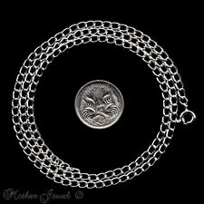 """50CM STERLING SILVER PLATED OPEN LINK CHAIN MENS BOYS LADIES WOMENS NECKLACE 20"""""""