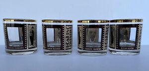 Vintage Roaring Twenties Whiskey Glasses, Set Of 4 Great Condition.