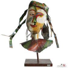XXL - Luxus Skulptur Figur Kopf Metall Handarbeit Gilde Gallery ca. 70x50x35 cm