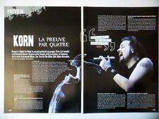 COUPURE DE PRESSE-CLIPPING :  KORN [3pages] 2005 Munky,Preview,See You On The...