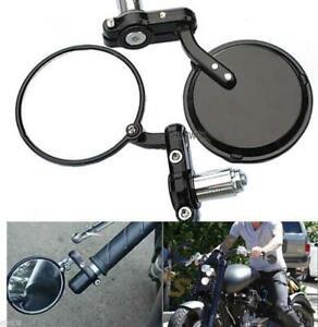 Coppia specchi specchietti per moto cafe racer alluminio piega manubrio nero