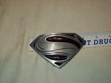 Superman Black/Silver Logo Metal Belt Buckle NEW