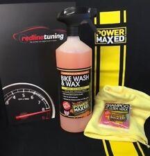 Power Maxed Bike Wash & Wax Spray 1 litre+Free Micro fibre,Shampoo & Ultra Wax
