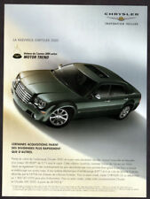 2005 CHRYSLER 300C Original Print AD - Gray car photo Motor Trend award french