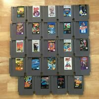 Lot of 24 Nintendo Entertainment System NES Games | Great Condition | Used | C14