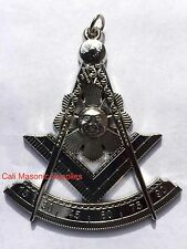 "3"" Past Master Silver Electroplated  Jewel For Masonic Collar Regalia Mason"