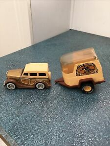 Vtg 1980's Buddy L Tinplate & Plastic Ford Woody Wagon & Plastic Horse Trailer